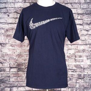 "Nike ""Scratch Mark"" Logo Navy Tee, XL"
